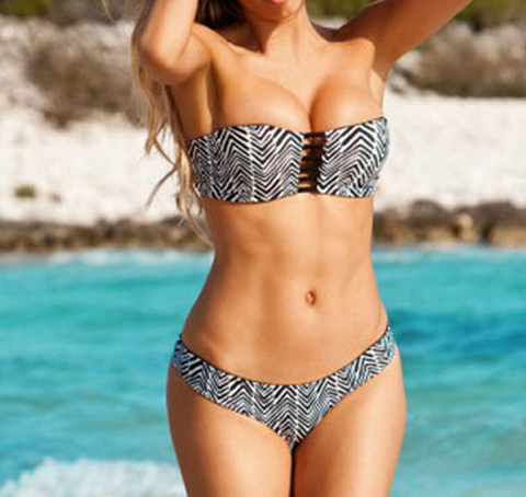 Sexy hollow out two sides wear two piece bikini