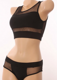 CUTE GAUZE HOLLOW OUT BIKINI
