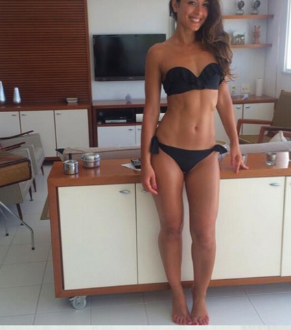 HOT BLACK LAYERED STRAPLESS BLACK TWO PIECE BIKINI
