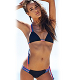 HOT TASSEL COLORFUL TWO PIECE POLYLINE  BIKINIS