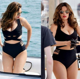 HOT BIG ONE PIECE BLACK BIKINI