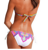 HOT PRINT TOTEM FLOWER TWO PIECE BIKINIS