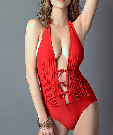 HOT ONE PIECE RED KNOT BIKINIS