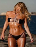 HOT TWO PIECE BLACK HOLLOW BIKINIS HOLLOW OUT