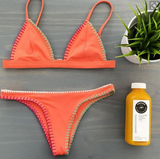 FASHION ORANGE TWO PIECE BIKINIS