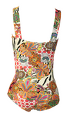 HOT ONE PIECE COLORFUL TOTEM PRINT BIKINI BATH SUIT
