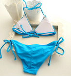 HOT BLUE HANDMADE TWO PIECE BIKINIS