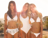 HOT SEXY WHITE HOLLOW OUT BIKINIS