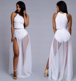 HOT TWO PIECE NET DRESS