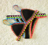HOT COLORFUL TWO PIECE KNIT BIKINIS