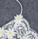 Flower embroidery lace vest harness small top