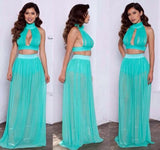 CUTE SEXY CHIFFON TWO PIECE DRESS