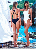 HOT ONE PIECE BACKLESS BACK CROSS BIKINI SWIMWEAR BATH SUIT