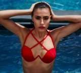 HOT CUTE RED CROSS TWO PIECE BIKINIS