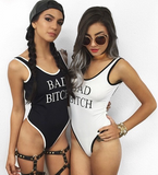HOT BLACK WHITE ONE PIECE LETTER BIKINIS
