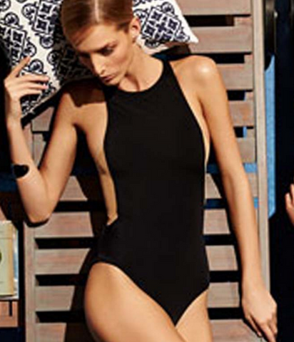 HOT BLACK SHOW THIN ONE PIECE BIKINIS