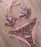 HOT SHINING SEQUINS TWO PIECE BIKINIS