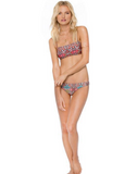 HOT PRINT TWO PIECE COLORFUL STRAPLESS TOTEM STRAPLESS BIKINIS