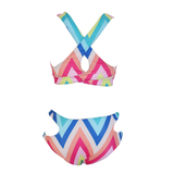 2016 new digital printing split Rainbow split sexy bikini
