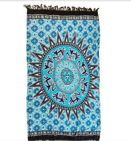 Black tassel rectangular beach mat yoga mat towel blanket