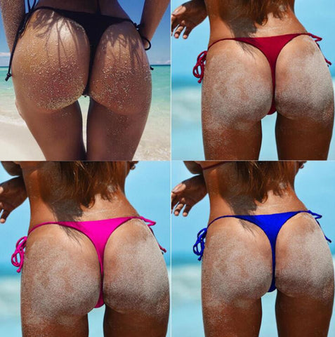 New hot summer bottom side knot one-piece panty beach underpants 4 color