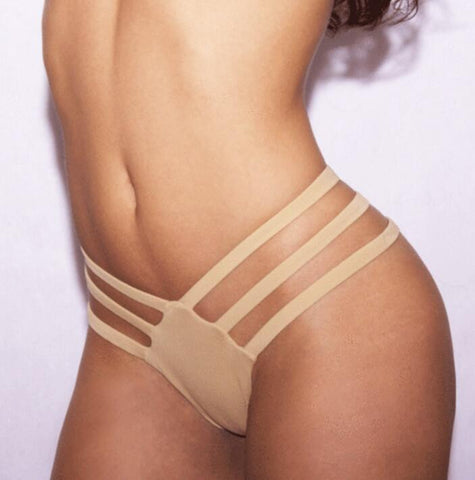 Sexy hollow women panty Underpant Brief solid color khaki