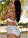 NET YARN SPLICING FISSION TWO-PIECE SWIMSUIT TIGHT SEXY SWIMSUIT