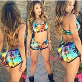 SEXY COLORFUL TREE BIKINI TWO PIECES