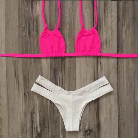 HOT TWO STRAPS TWO PIECE CUTE BIKINIS