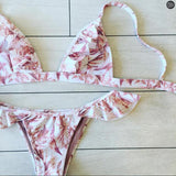 Sexy Ladies Halter Summer Print Two Piece Bikini Swimsuit I