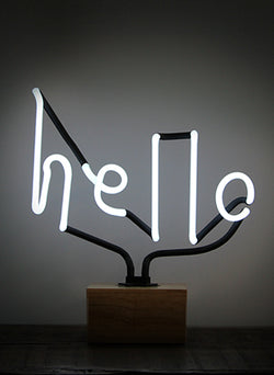 "SOMEKIND NEON ""HELLO""- WHITE"