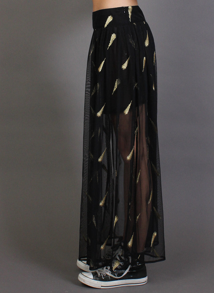 FUN TIME SKIRT BLACK/GOLD