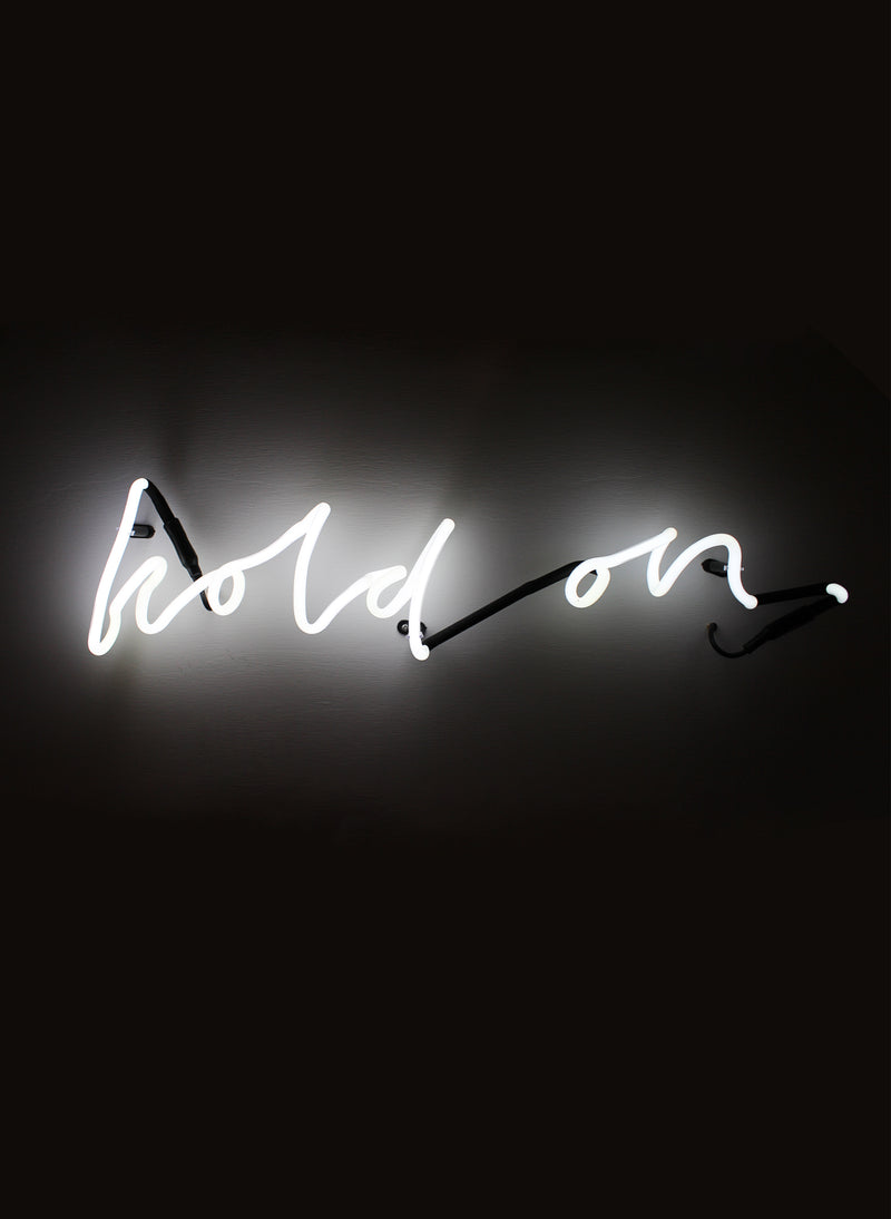 "SOMEKIND NEON ""HOLD ON"" - WHITE"