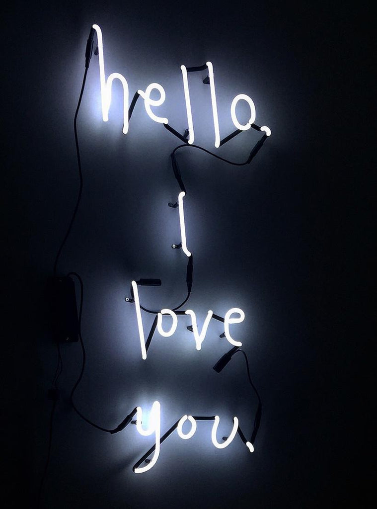 "SOMEKIND NEON ""HELLO, I LOVE YOU"" - WHITE"
