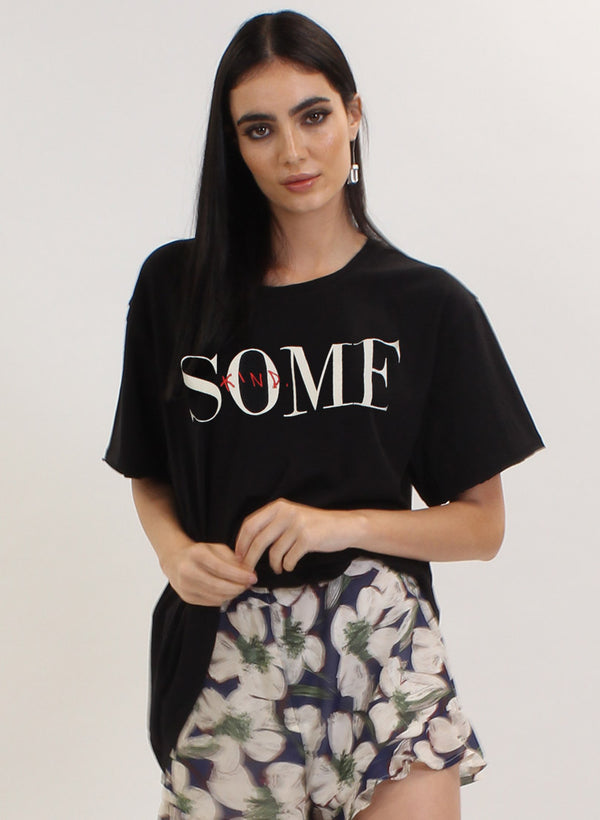 WELCOME TEE - SOME BLACK