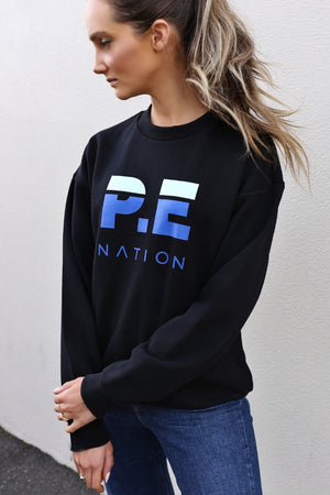 P.E Nation Heads Round Sweat - Black