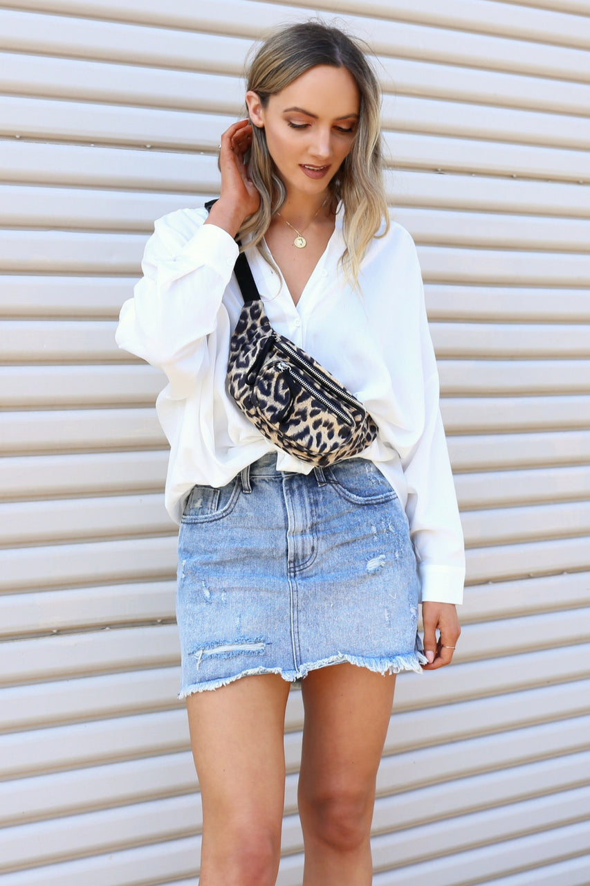 Rocky 2020 Mini High Waist Denim Skirt