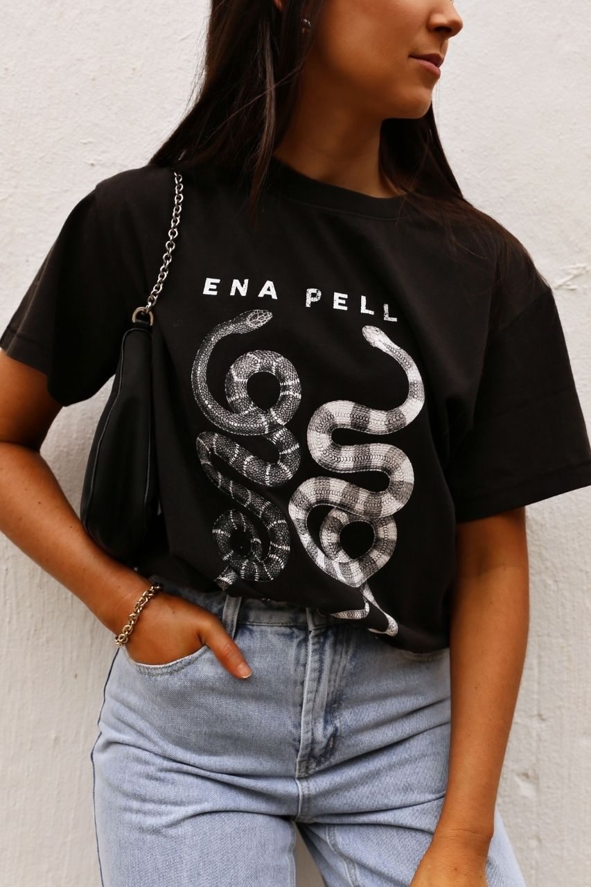 Ena Pelly Ying Yang tee - Black