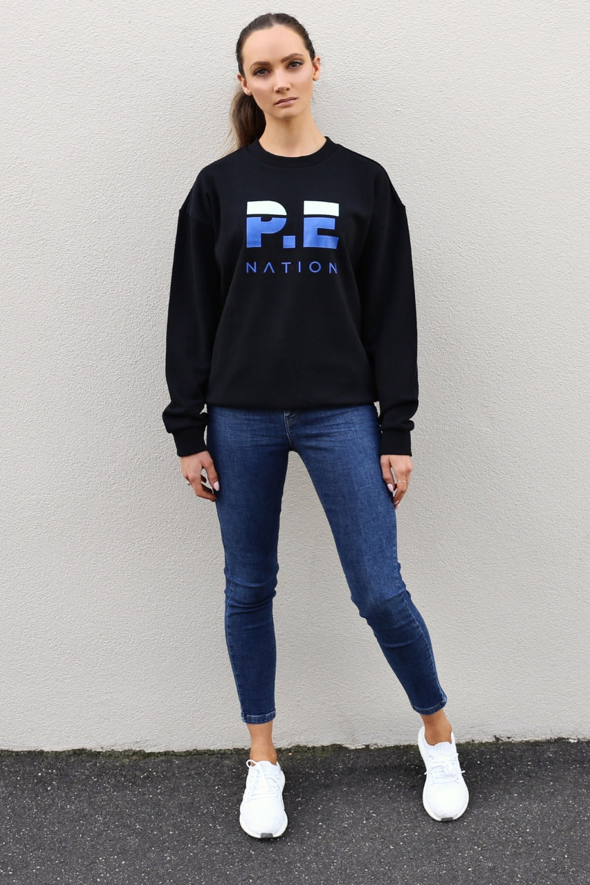 P.E Nation Heads Round Sweat - Black one teaspoon jeans