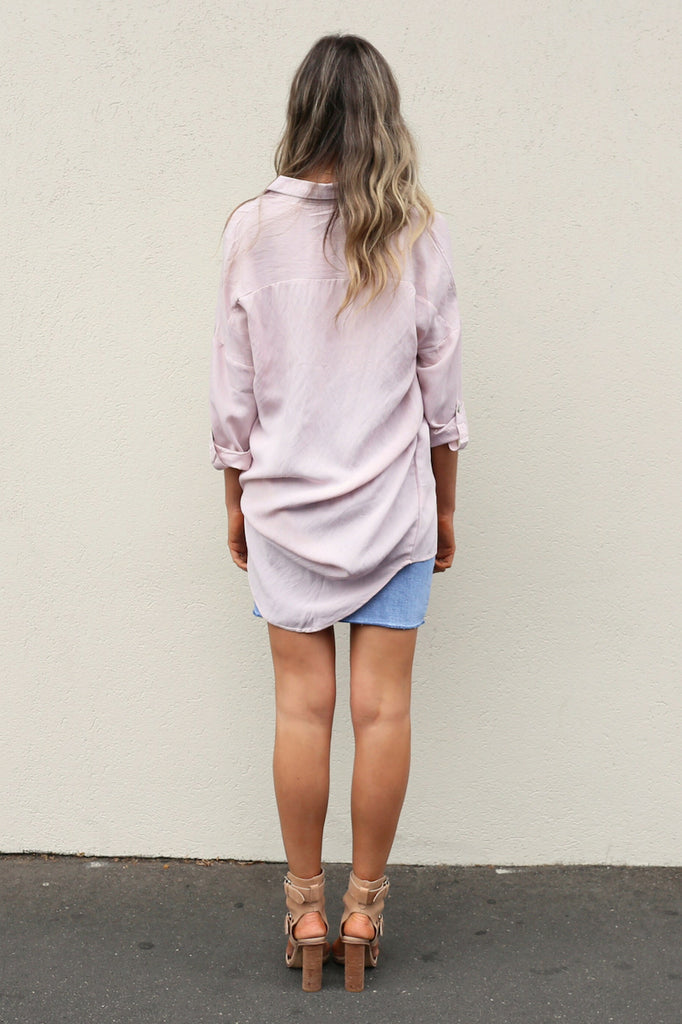 Stephanie pink rayon Shirt mve boutique