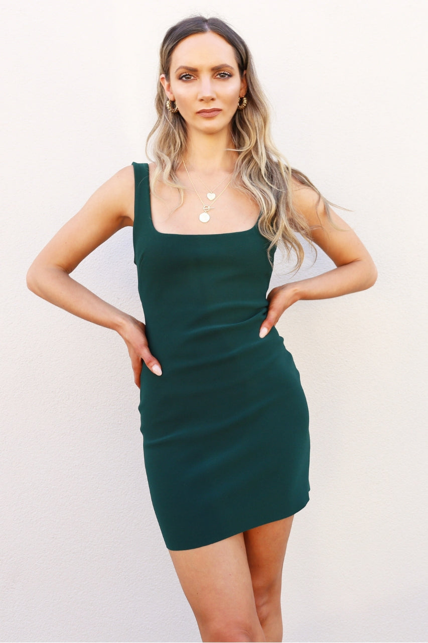 Bec & Bridge Marguax Mini Dress green mini dress tight dress mve boutique