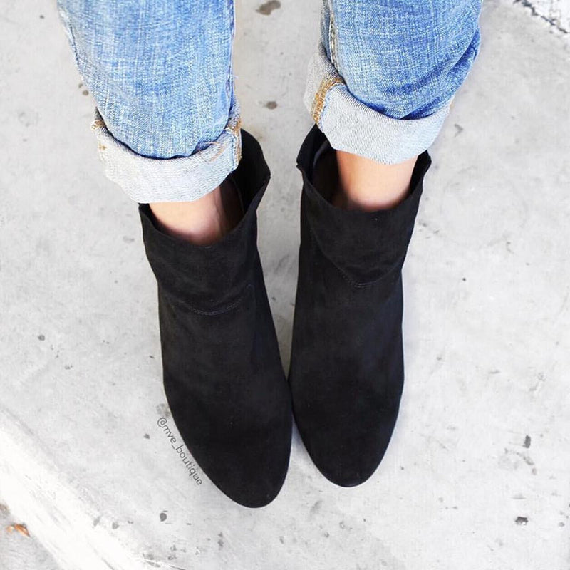 Siren Shoes - PENELOPE - BLACK SUEDE BOOT - Footwear - M.VE BOUTIQUE - 1