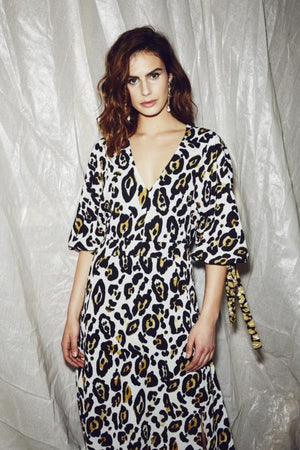 Vestire Leopard Lounge Midi Dress