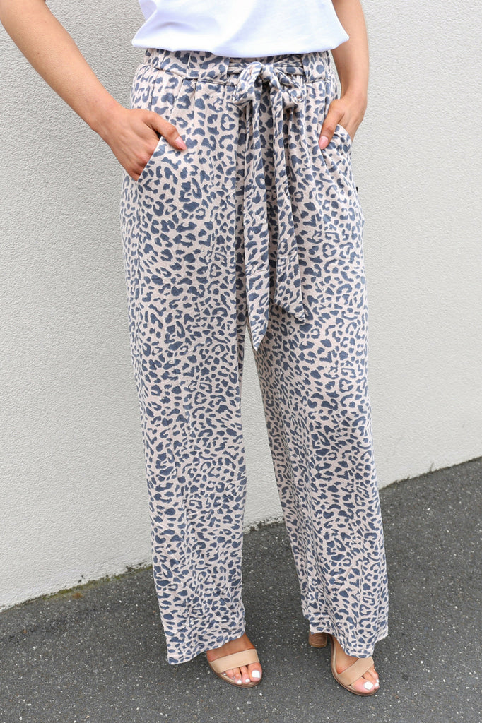 wide leg leopard print high waist culotte mve boutique