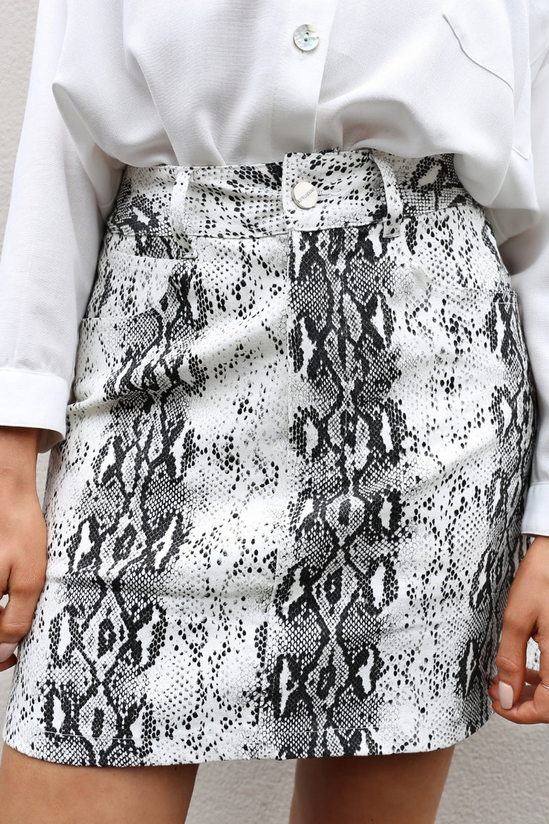 Runaway Anaconda Skirt mve boutique