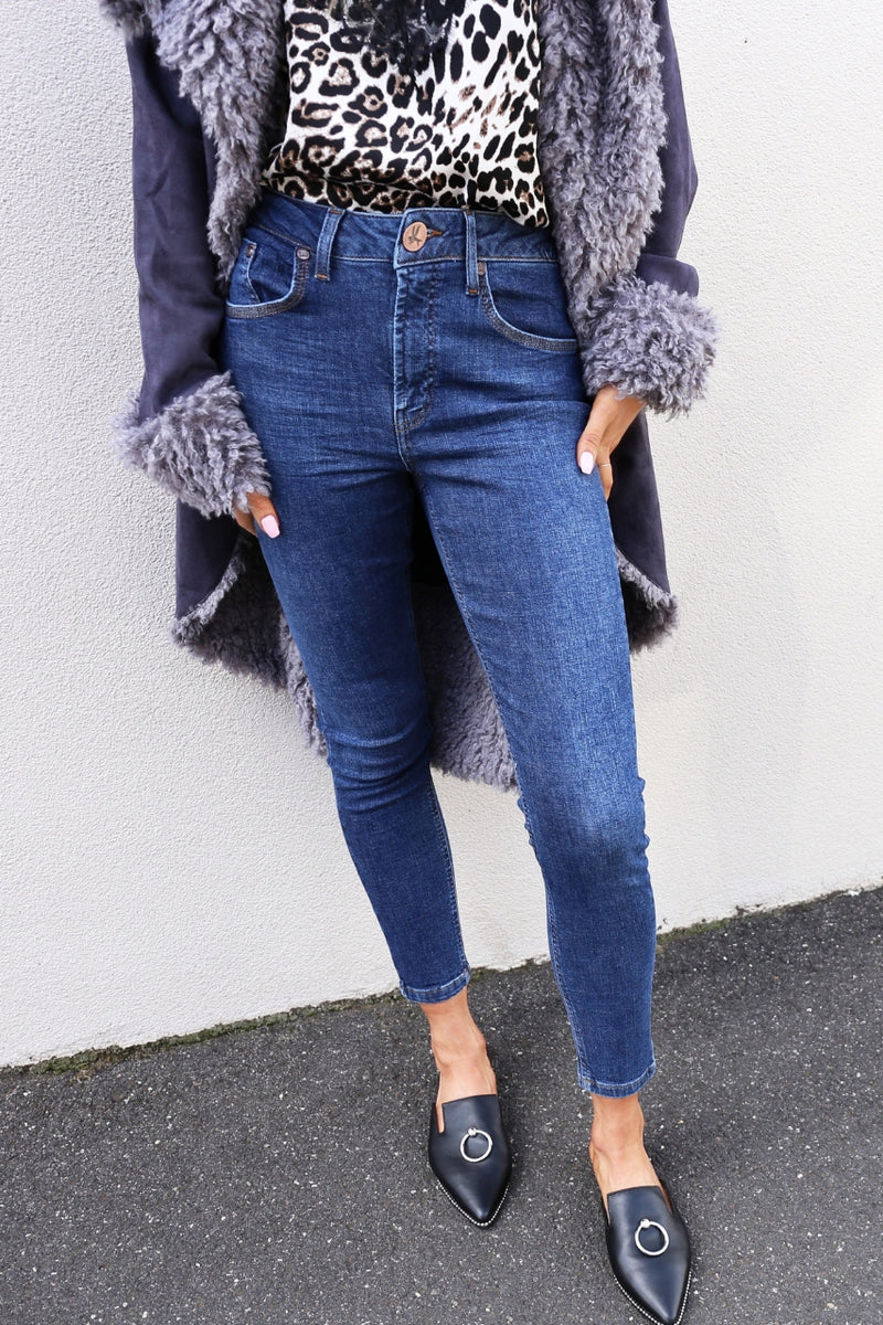 One Teaspoon Freebirds II - Alabama high waist jeans elliatt chronical coat leopard lace cami