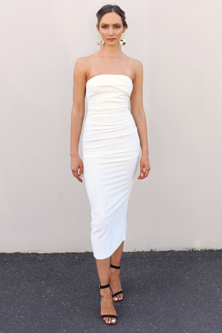 Bec & Bridge Simply Irresistable Dress white strapless