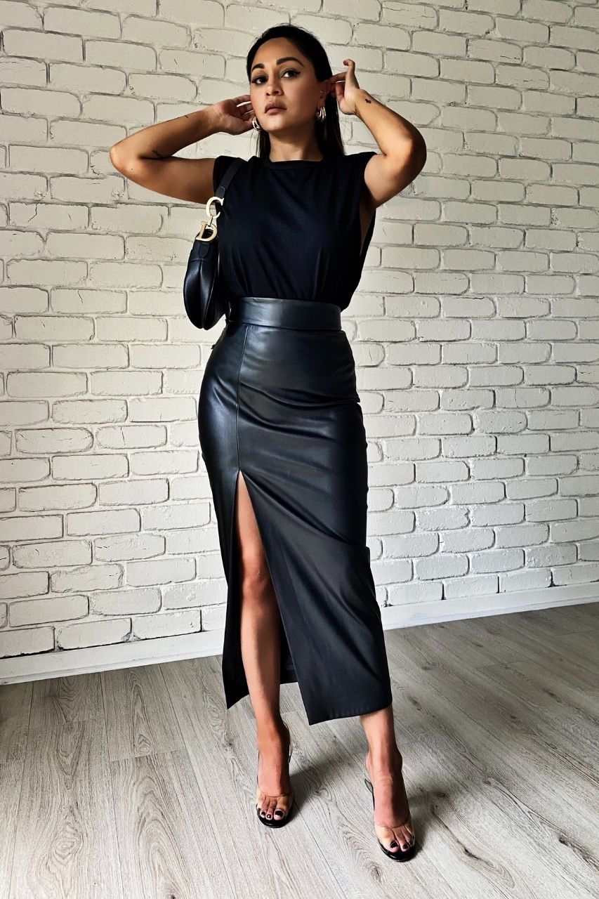 Effie Kats Thigh Split Midi