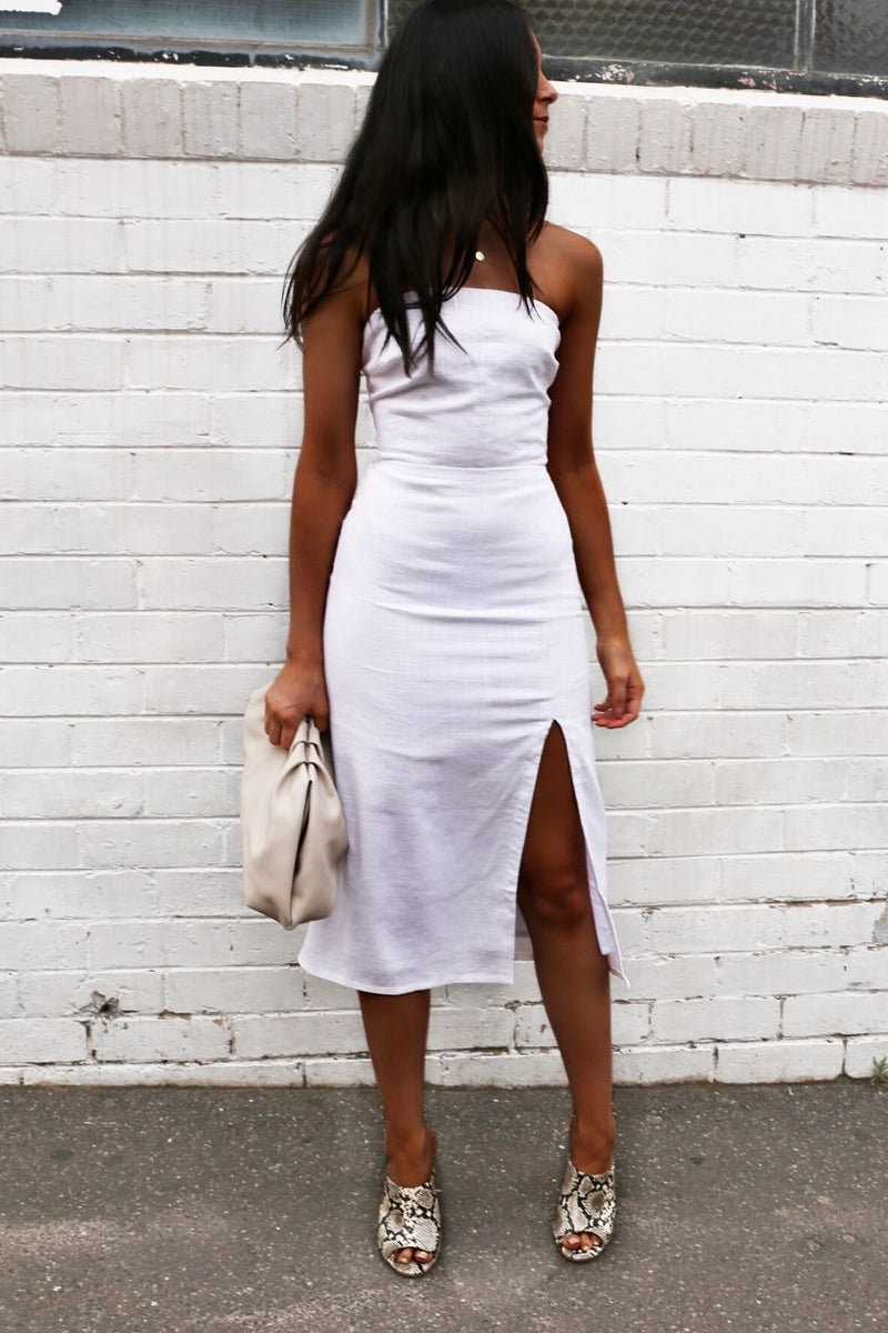 Serena Dress- white