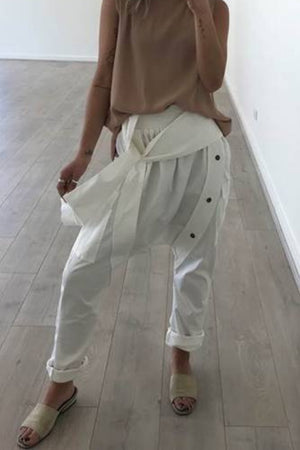 Riviera Pants mve boutique drop crotch pants white pants